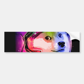 Doge astronaut-colorful dog - doge-shibe-doge dog bumper sticker