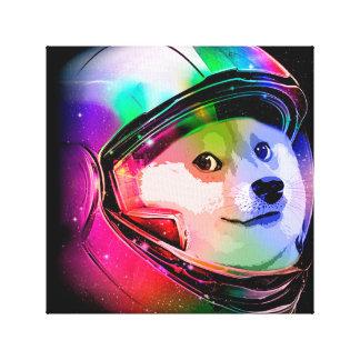 Doge astronaut-colorful dog - doge-shibe-doge dog canvas print