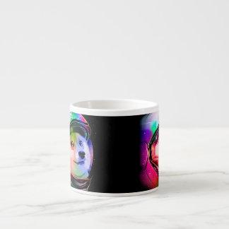 Doge astronaut-colorful dog - doge-shibe-doge dog espresso cup