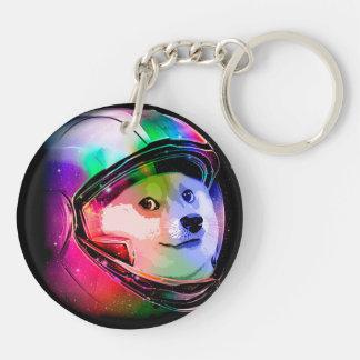 Doge astronaut-colorful dog - doge-shibe-doge dog key ring