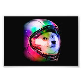 Doge astronaut-colorful dog - doge-shibe-doge dog photo print
