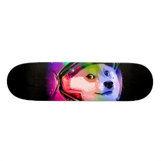 Doge astronaut-colorful dog - doge-shibe-doge dog skate board deck