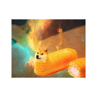 Doge bread - doge-shibe-doge dog-cute doge canvas print
