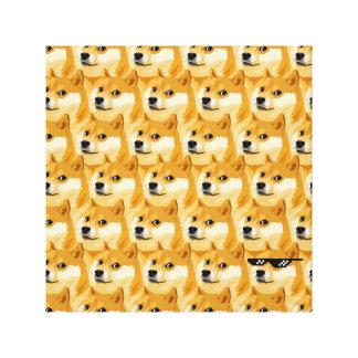Doge cartoon - doge texture - shibe - doge canvas print