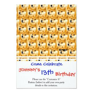 Doge cartoon - doge texture - shibe - doge card