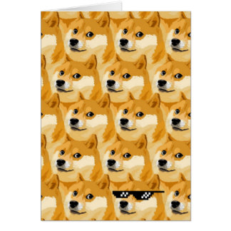 Doge cartoon - doge texture - shibe - doge card