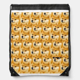 Doge cartoon - doge texture - shibe - doge drawstring bag