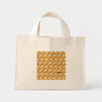 Doge cartoon - doge texture - shibe - doge mini tote bag