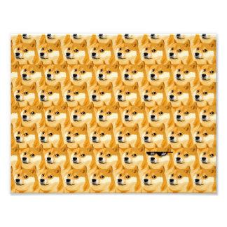 Doge cartoon - doge texture - shibe - doge photo print