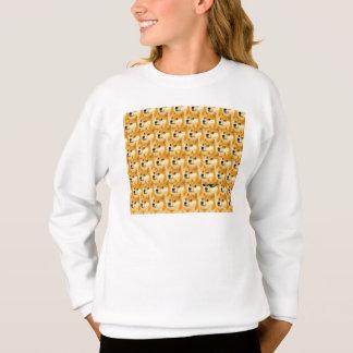 Doge cartoon - doge texture - shibe - doge sweatshirt