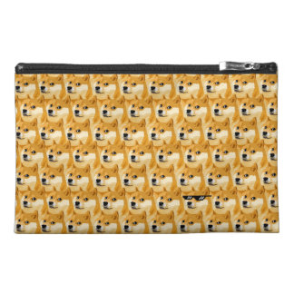 Doge cartoon - doge texture - shibe - doge travel accessories bag
