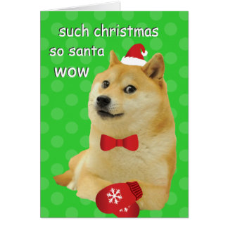 Doge Christmas Card