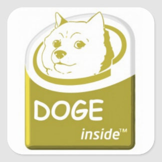 Doge Inside Sticker