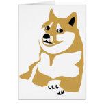 Doge - internet meme greeting card