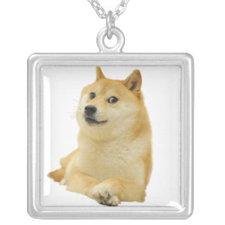 doge meme - doge-shibe-doge dog-cute doge silver plated necklace