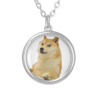 doge meme - doge-shibe-doge dog-cute doge silver plated necklace