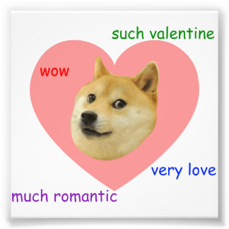 Doge Much Valentines Day Very Love Such Romantic Photo