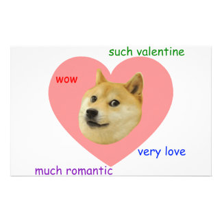 Doge Much Valentines Day Very Love Such Romantic Personalized Stationery