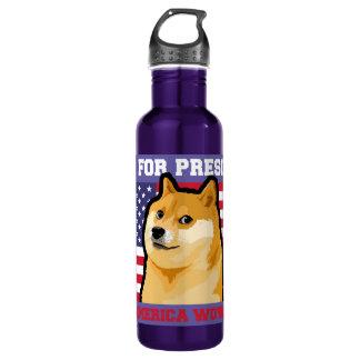 Doge president - doge-shibe-doge dog-cute doge 710 ml water bottle