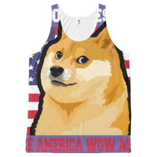 Doge president - doge-shibe-doge dog-cute doge All-Over print singlet