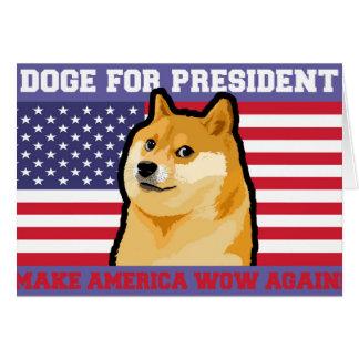 Doge president - doge-shibe-doge dog-cute doge card