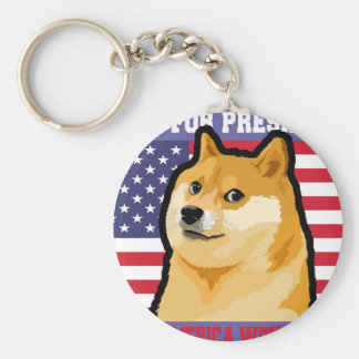 Doge president - doge-shibe-doge dog-cute doge key ring