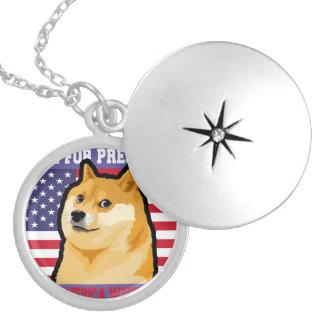 Doge president - doge-shibe-doge dog-cute doge locket necklace