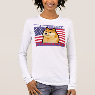Doge president - doge-shibe-doge dog-cute doge long sleeve T-Shirt