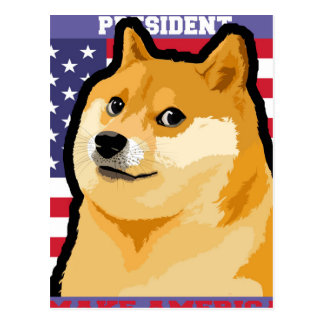 Doge president - doge-shibe-doge dog-cute doge postcard