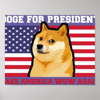 Doge president - doge-shibe-doge dog-cute doge poster