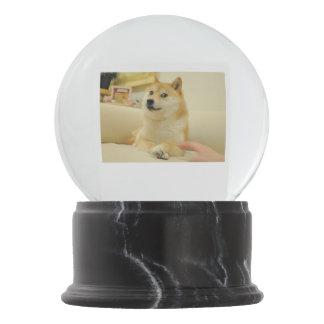 Doge Shiba Inu Snow Globe With Red Heart Confetti