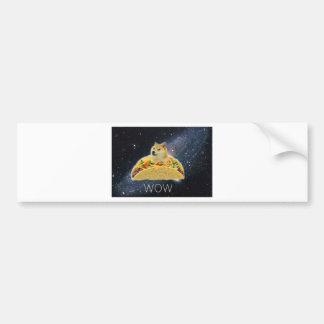 doge space taco meme bumper sticker