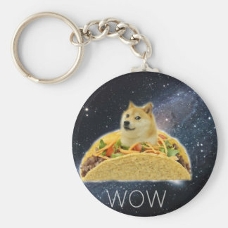 doge space taco meme key ring