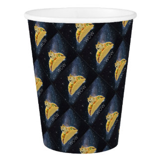 doge space taco meme paper cup