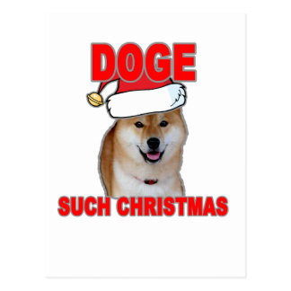 Doge Such Christmas Tee Shirts H.png Postcard