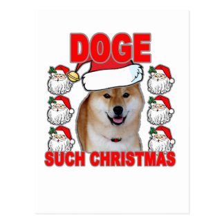 Doge Such Christmas Tee Shirts JK.png Postcard