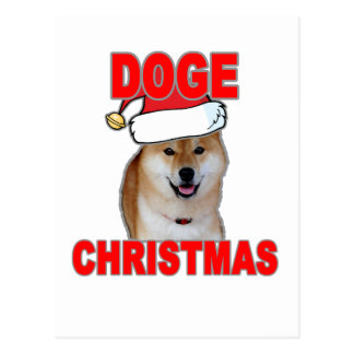 Doge Such Christmas Tee Shirts L.png Postcard