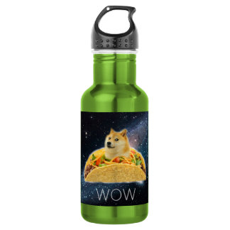 Doge taco - doge-shibe-doge dog-cute doge 532 ml water bottle