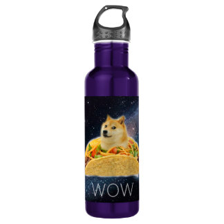 Doge taco - doge-shibe-doge dog-cute doge 710 ml water bottle