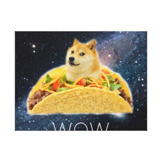 Doge taco - doge-shibe-doge dog-cute doge canvas print
