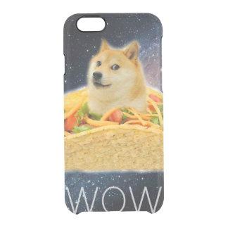 Doge taco - doge-shibe-doge dog-cute doge clear iPhone 6/6S case