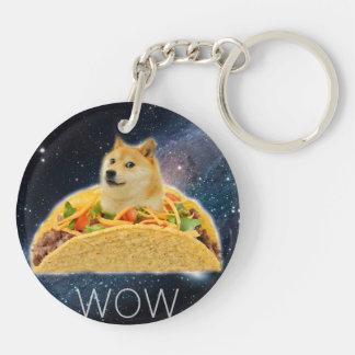 Doge taco - doge-shibe-doge dog-cute doge key ring