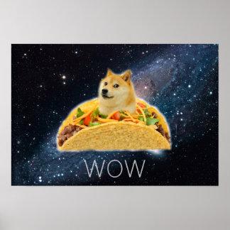 Doge taco - doge-shibe-doge dog-cute doge poster