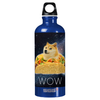 Doge taco - doge-shibe-doge dog-cute doge water bottle