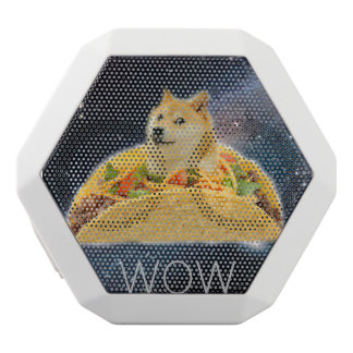 Doge taco - doge-shibe-doge dog-cute doge white bluetooth speaker