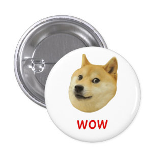 Doge Very Wow Much Dog Such Shiba Shibe Inu 3 Cm Round Badge