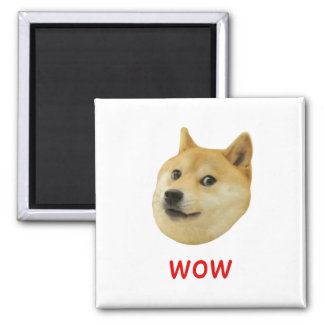 Doge Very Wow Much Dog Such Shiba Shibe Inu Square Magnet