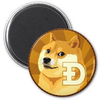 DogeCoin Logo Magnet