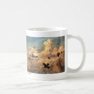 Dogfight of biplane coffee mug