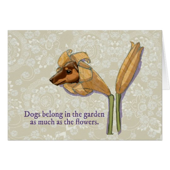 Dogflower greeting card